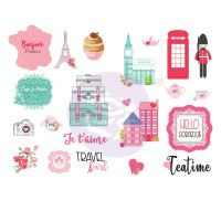 Prima Marketing Julie Nutting Traveling Girl Stickers