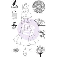 Prima Marketing Julie Nutting Doll Stamp - Kyoko