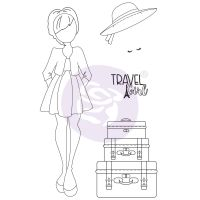 Prima Marketing Julie Nutting Doll Stamp - Madeline