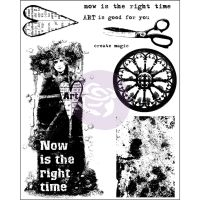 Prima Marketing 6x7.5 Cling Stamp-Now Is The Right Time