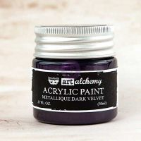 Prima Marketing Art Alchemy-Acrylic Paint-Metallique Dark Velvet 1.7oz