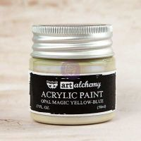 Prima Marketing Art Alchemy: Acrylic Paint - Opal Magic Yellow-Blue 1.7oz