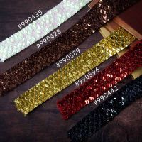 Prima Marketing Memory Hardware Sequin Trim - Brown