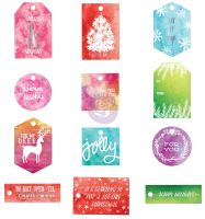 Prima Marketing Sweet Peppermint Watercolor Resist Tags
