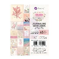 Prima Marketing Golden Coast 3X4 Journaling Cards
