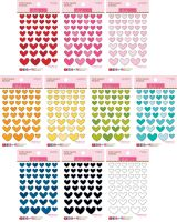 Bella Blvd Puffy Hearts Stickers - Winter 2017 Bundle (10 Colors)