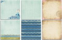 Bo Bunny Down By The Sea Bonus 12x12 Paper Bundle