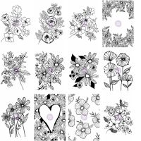 Prima Marketing Christine Adolf Cling Stamp Bundle: 1-12