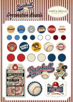 Carta Bella Baseball Decorative Brads