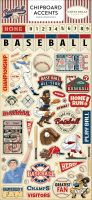 Carta Bella Baseball 6x13 Chipboard Accents
