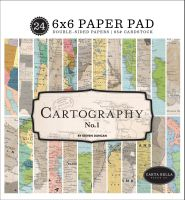 Carta Bella Cartography No. 1 6x6 Paper Pad