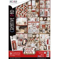 Ciao Bella Snow and the City Creative Pad A4 9/Pkg