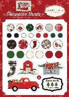 Carta Bella Christmas Market Decorative Brads