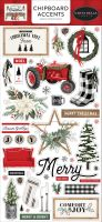 Carta Bella Farmhouse Christmas 6x13 Chipboard Accents