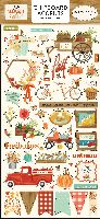 Carta Bella Fall Market 6x13 Chipboard Accents