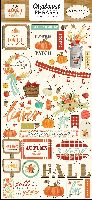 Carta Bella Fall Market 6x13 Chipboard Phrases