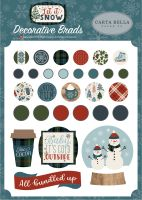 Carta Bella Let It Snow Decorative Brads