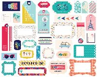 Carta Bella Let's Travel Frames & Tags