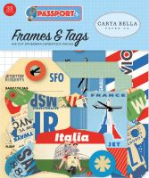 Carta Bella Passport Frames & Tags Ephemera