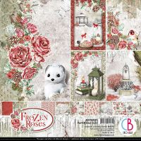 Ciao Bella Frozen Roses Double-Sided Paper Pad 12