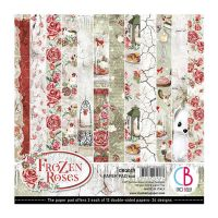 Ciao Bella Frozen Roses Double-Sided Paper Pad 6