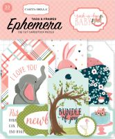 Carta Bella Rock-A-Bye Girl Frames & Tags Ephemera