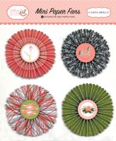Carta Bella Rock-A-Bye Girl Mini Paper Fans