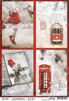 Ciao Bella Rice Paper A4 Snow and the City cards