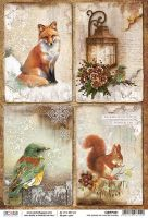 Ciao Bella Rice Paper A4 The Sound of Winter cards