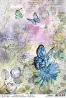 Ciao Bella Rice Paper A4 Blue Butterfly