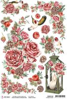 Ciao Bella Rice Paper A4 Frozen Roses