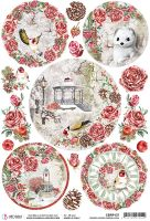 Ciao Bella Rice Paper A4 Frozen Roses Medallions