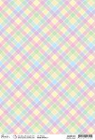 Ciao Bella Rice Paper A4 Pastel plaid