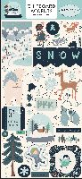 Carta Bella Snow Much Fun 6x13 Chipboard Accents