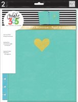 Me & My Big Ideas Create 365 The Happy Planner Snap in Hard Cover Turquoise Heart (Big)