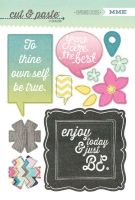 My Minds Eye Cut & Paste - Adorbs - Be Chipboard Stickers