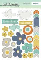 My Minds Eye Cut & Paste - Charm - Carefree Chipboard Stickers