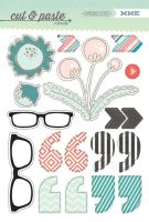 My Minds Eye Cut & Paste - Flair - Wow Chipboard Stickers