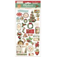 Stamperia Chipboard - Classic Christmas (cm. 15x30)