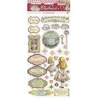 Stamperia Chipboard - Alice Gold (cm. 15x30)