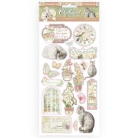 Stamperia Chipboard cm 15x30 - Orchids and Cats