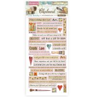 Stamperia Chipboard cm 15x30 - Atelier quotes