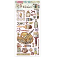 Stamperia Chipboard cm 15x30 - Atelier decorations