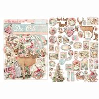 Stamperia Die cuts assorted - Pink Christmas