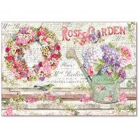 Stamperia Decoupage Rice Paper 48x33 Rose Garden