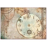 Stamperia Decoupage Rice Paper 48x33 Clockwise clock