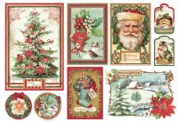 Stamperia Decoupage Rice Paper 48X33 Christmas vintage