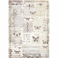 Stamperia A3 Decoupage Rice Paper packed Butterflies