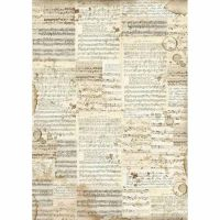 Stamperia A3 Decoupage Rice Paper packed Music