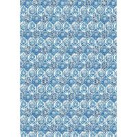 Stamperia A3 Decoupage Rice Paper packed Blue tile